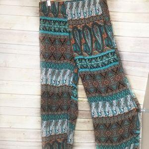 Ambiance rayon harem Aztec pants SZ M
